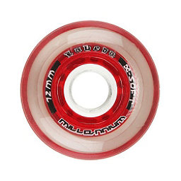 Labeda Gripper Millennium Inline Hockey Skate Wheels - 4 Pack, Clear-Red, 256