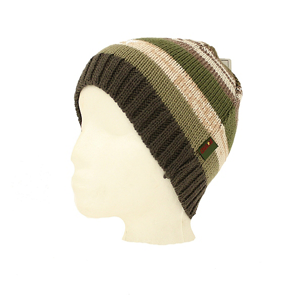Chaos New Cozy Green Brown Thick Beanie Hat Ski Snowboard, , 600