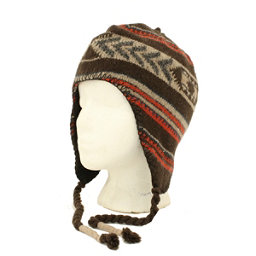 Dorfman Pacific Co Peruvian Fleece with Micro Hat, Brown Or, 256