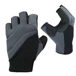 Stohlquist Contact Fingerless Paddling Gloves 2018, Black-Charcoal, 256