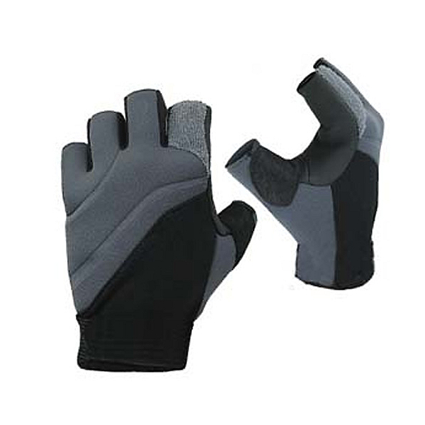 Stohlquist Contact Fingerless Paddling Gloves 2020, Black-Charcoal, 600