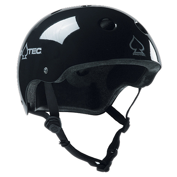 Pro-Tec The Classic Mens Skate Helmet 2017, Gloss Black, 600