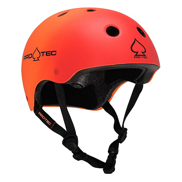 Pro-Tec The Classic Mens Skate Helmet 2017, Red-Orange Fade, 600