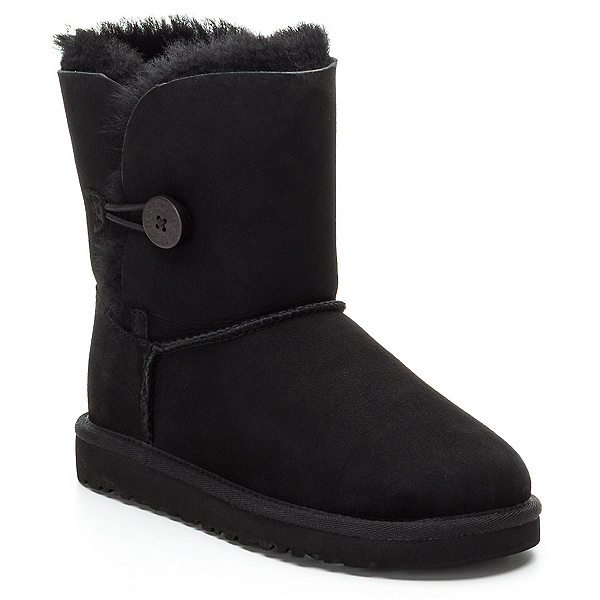 UGG Bailey Button Girls Boots, Black, 600