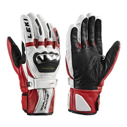 Leki World Cup Racing Titanium S Ski Racing Gloves, White-Red, 256