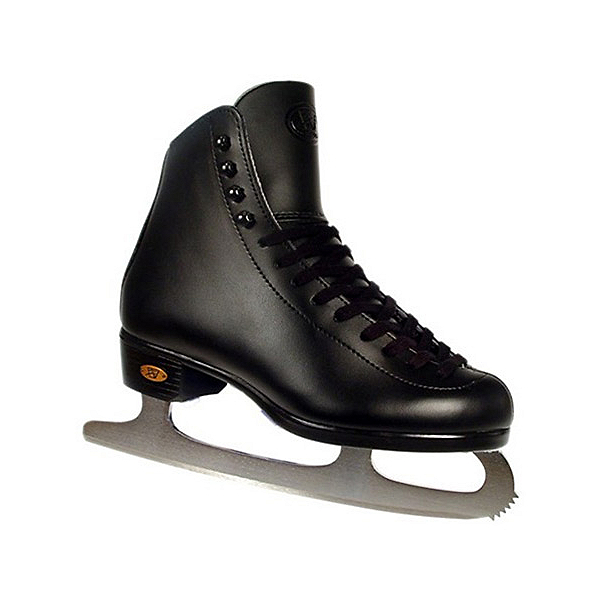 Riedell Black 15J Kids Figure Ice Skates, Black, 600