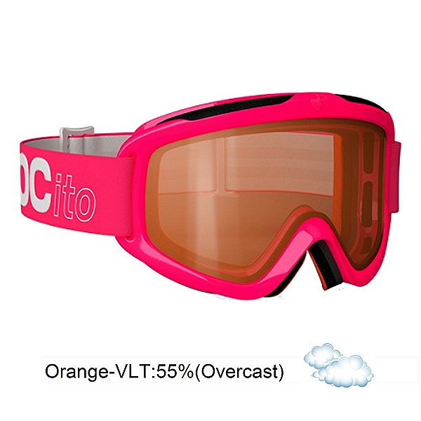 POC POCito Iris Kids Goggles, Flourescent Pink-Orange, 600