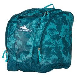 High Sierra Trapezoid Ski Boot Bag, Flora-Lagoon-Tropic Teal, 256