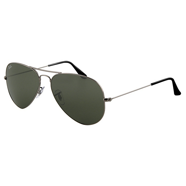 Ray-Ban Aviator Large Metal Sunglasses, Gunmetal, 600