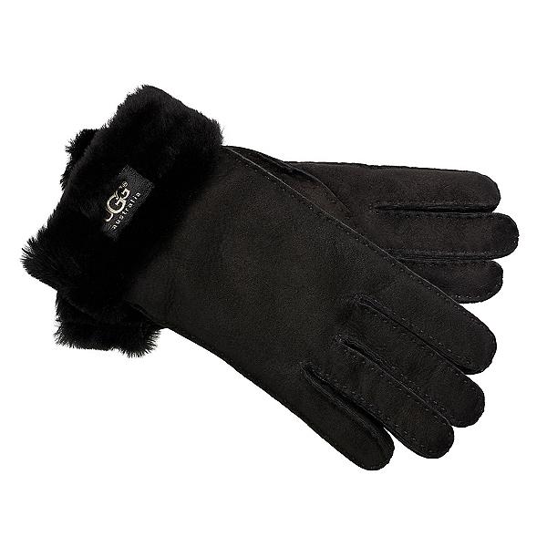 UGG Turn Cuff Womens Gloves, Black, 600