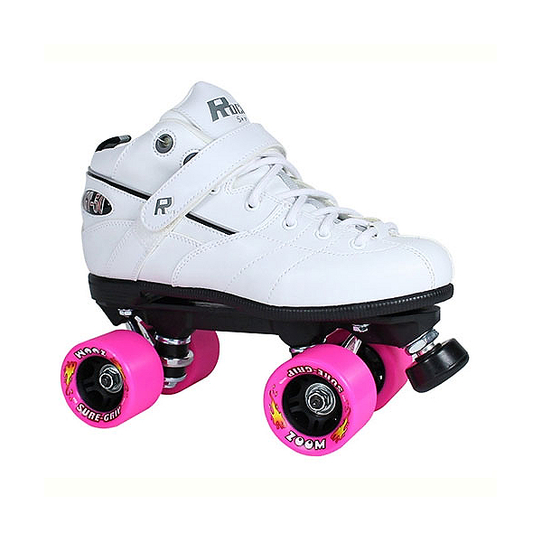 Rock GT-50 Zoom White Boys Speed Roller Skates, White, 600