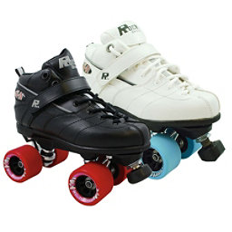 Rock GT-50 Fugitive Speed Roller Skates, Black, 256