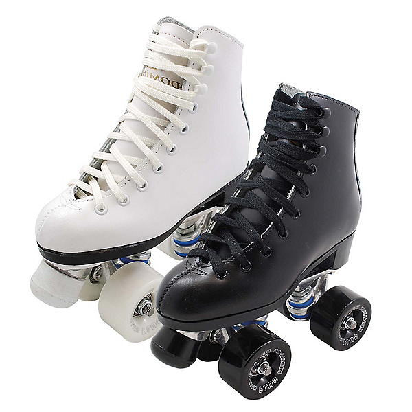 Dominion 719 Junior Pro Medallion Plus Girls Artistic Roller Skates, White, 600