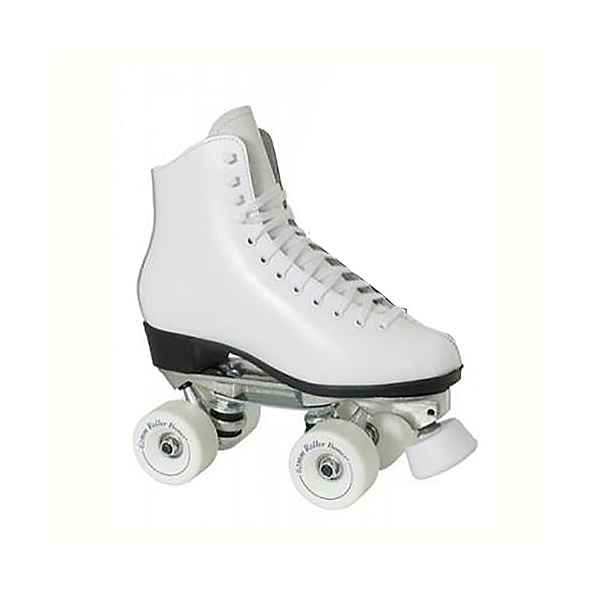 Dominion 719 Super X Medallion Plus Girls Artistic Roller Skates, White, 600