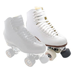 Sure Grip International 93 Century Bones Elite Womens Artistic Roller Skates, White, 256