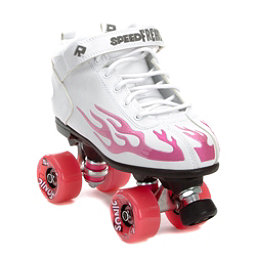 Rock  Sonic Boys Speed Roller Skates, White-Pink Flames, 256