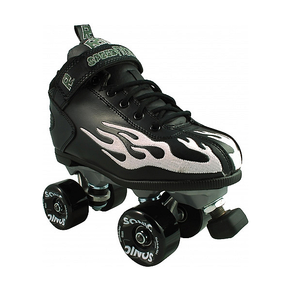 Rock Sonic Outdoor Roller Skates, Black-Ghost Flame, 600
