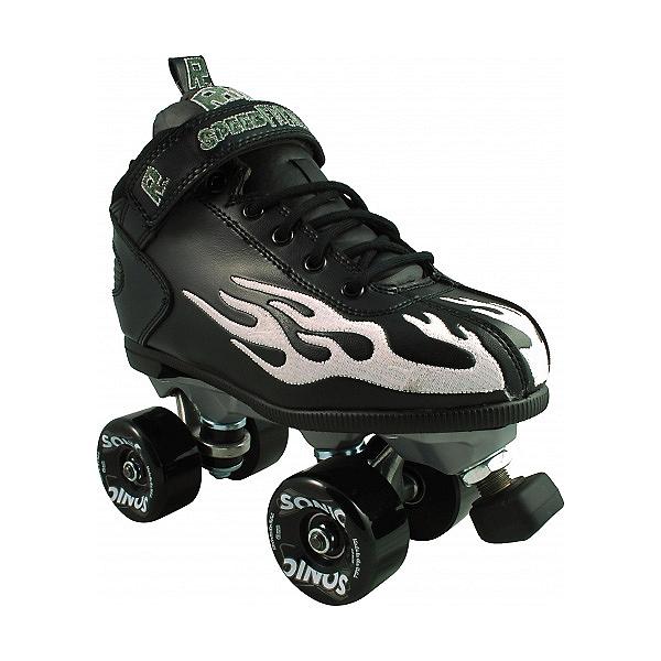 Rock Sonic Outdoor Roller Skates, Black-Ghost Flame, 600