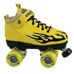 Rock Sonic Outdoor Roller Skates, Yellow-Black Flames, 256