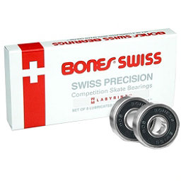 Bones Swiss Precision 16 Pack Skate Bearings 2017, , 256