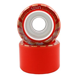 Backspin Deluxe Roller Skate Wheels - 8 Pack, Red, 256
