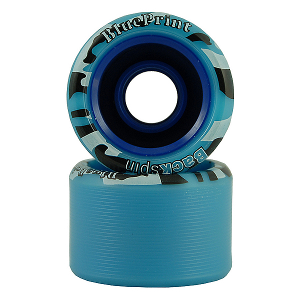 Backspin Blueprint Roller Skate Wheels - 8 Pack, Blue, 600
