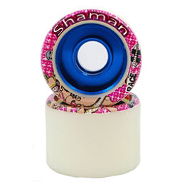Hyper Shaman Roller Skate Wheels - 8 Pack, White-Blue, 256