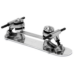 Sure Grip International Classic Stopless Roller Skate Plates with Trucks, 7mm, 256