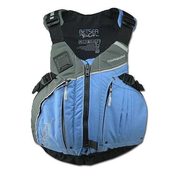 Stohlquist Betsea Womens Kayak Life Jacket 2018, Powder Blue-Gray, 600
