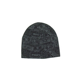 Hybrid Tees Ski or Snowboard Hat, Black Gray Cassette, 256