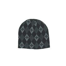 Hybrid Tees Ski or Snowboard Hat, Black Fluer De Lis, 256