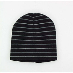 Hybrid Tees Ski or Snowboard Hat Hat, Bk W Gy Stripes, 256