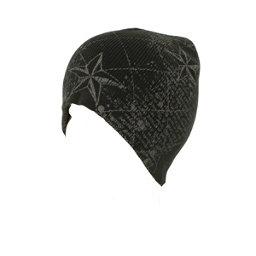 Hybrid Tees New Ski Snowboard Warm Beanie Hat Stars & Scroll Pattern, Bk W Gy Stars-Words, 256