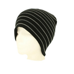 Hybrid Tees New Ski Snowboard Warm Beanie Hat Black White Stripes Pattern, Bk W Gy Stripes, 256