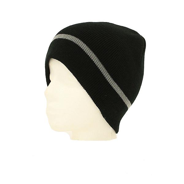 Hybrid Tees New Ski Snowboard Warm Beanie Hat Black Gray Stripe Pattern, , 600
