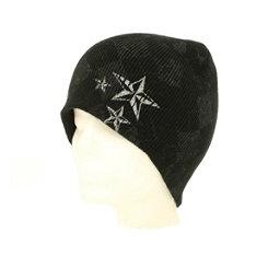 Hybrid Tees New Ski Snowboard Warm Beanie Hat Star & Diamond Pattern, Bk W Pattern-Wh Stars, 256
