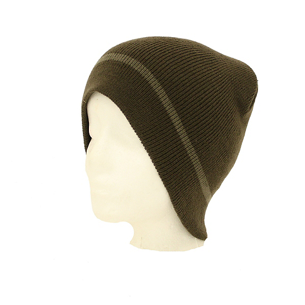 Hybrid Tees Ski or Snowboard Beanie Hat Warm Color Graphic Choices, Br W Taupe Stripe, 600