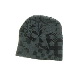 Hybrid Tees Ski or Snowboard Hat, Gy Star-Checker Pattern, 256