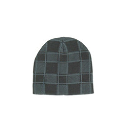 Hybrid Tees Ski or Snowboard Hat, Gy W Bk Checkerboard, 256