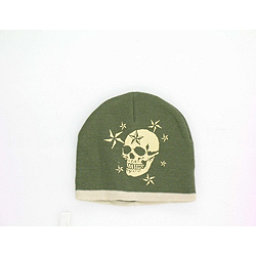 Hybrid Tees Ski or Snowboard Hat, Gn W Large Skull, 256