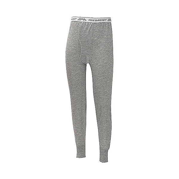 Medalist Midweight Gray Ski Mens Long Underwear Pants, , 600