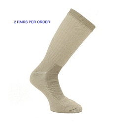 Natural Collection Khaki Hiking Outdoor Ski Trail Socks, , 256