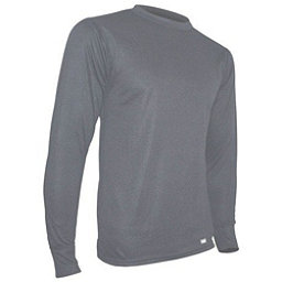 PolarMax Midweight Double Mens Long Underwear Shirt Top Ski Snowboard Outdoor, Grey, 256