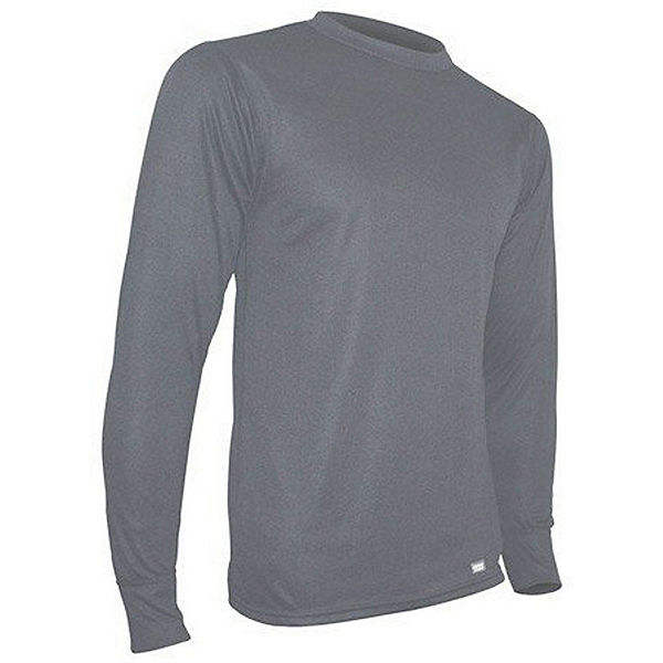 PolarMax Midweight Double Mens Long Underwear Top, Grey, 600