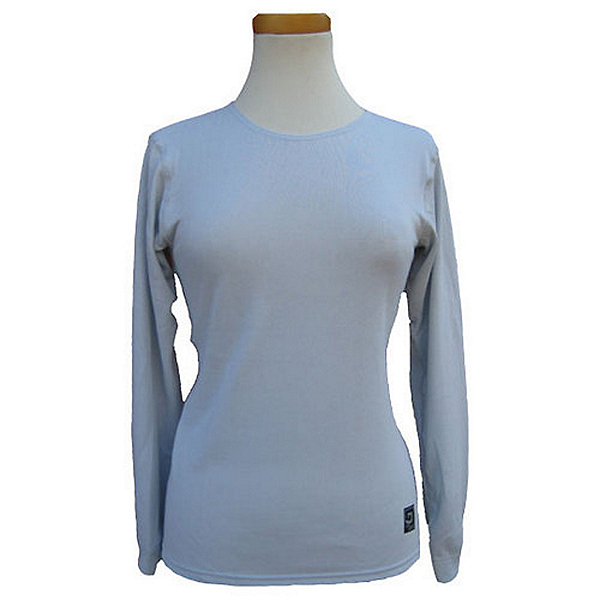 PolarMax Midweight Double Base Layer Womens Ski Top Long Sleeve 2099, Grey, 600