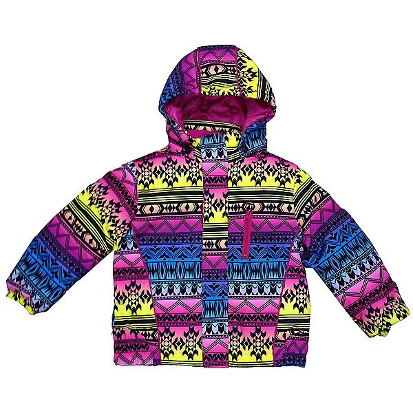 Pulse Snowbluff Jr Native Print Girls Ski Snowboard Jacket, , 600
