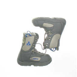 Burton Used Burton Progression Snowboard Boot Youth Size 3.0 - Mondo 21.0 Gray Snowboard Boots, Gray Blue Logo, 256