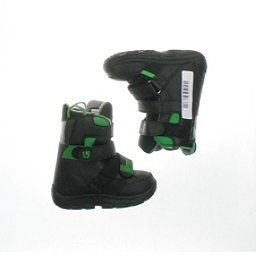 Burton Used Burton Progression Snowboard Boot Youth Size 3.0 - Mondo 21.0 Gray Snowboard Boots, Black Green Velcro, 256