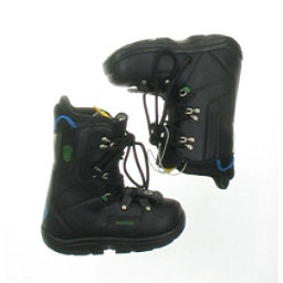 Burton Used Burton Progression Snowboard Boot Youth Size 3.0 - Mondo 21.0 Gray Snowboard Boots, Black Green Logo, 256