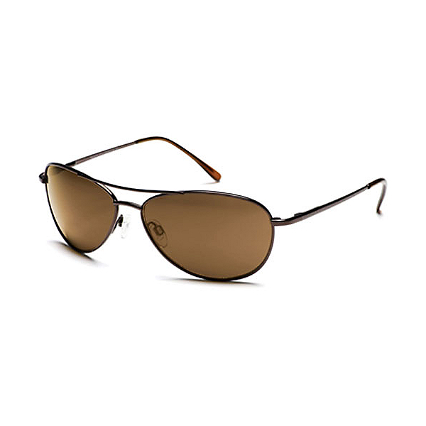 SunCloud Patrol Sunglasses, Gold-Brown Polarized, 600